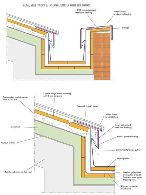 gutter section detail zintek gutter detail concept 3099 pinterest