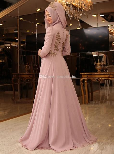 muslim hijab evening gowns prom dresses lace