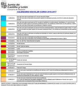 Calendario Escolar Comunidad Castilla Y El Curso Escolar 2016 2017 Comienza El Lunes 12 De