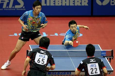 table tennis doubles of in ping pong