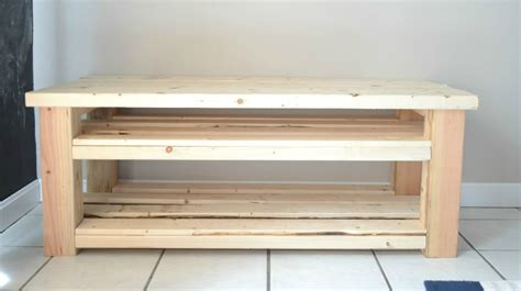 shoe storage bench plans mudroom bench with shoe storage buildsomething com