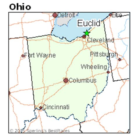 map of euclid ohio best places to live in euclid ohio
