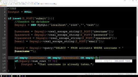 tutorial youtube php php mysqli registration tutorial youtube