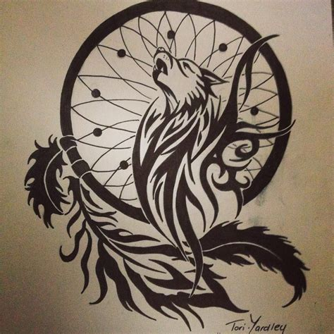 sketches of tribal tattoos wolf and catcher tribal pen drawing style