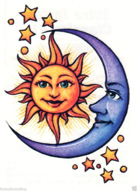 sun moon tattoo designs collection of 25 stunning moon sun tattoos stencil