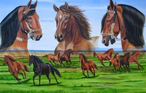 imagenes de paisajes y caballos cuadros modernos pinturas y dibujos paisajes con
