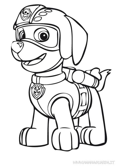 paw patrol zuma coloring pages coloringstar