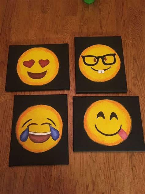 paint emoji the 25 best canvas painting kids ideas on pinterest
