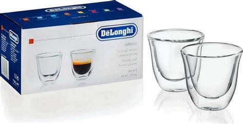 tasses verres thermiques x2 224 parois espresso delonghi 5513214591