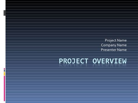 Template For Project Overview Project Overview Template Powerpoint