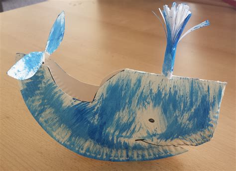Whale Paper Plate Craft - crafts and care for the family