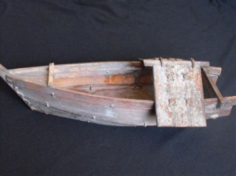 wooden boat japanese antique japanese wooden boat with a frame cover