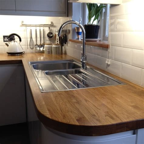 Kitchen Sink Worktop Oak Worktop With Sink Hartwood Timber