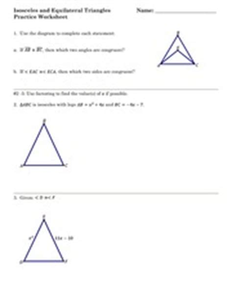 Isosceles And Equilateral Triangles Worksheet by Name Date Tons Of Free Math Worksheets At 169 Www