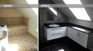 r 233 novation salle de bain meuble sous pente atlantic bain
