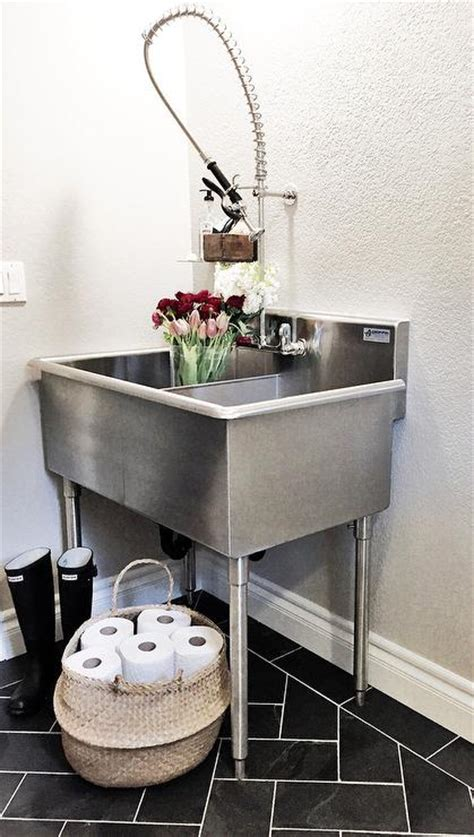 laundry room  stainless steel utility sink