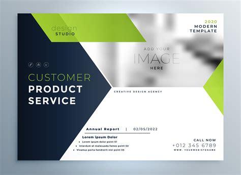 Creative Green Modern Brochure Flyer Template Presentation Download Free Vector Art Stock Brochure Presentation Template