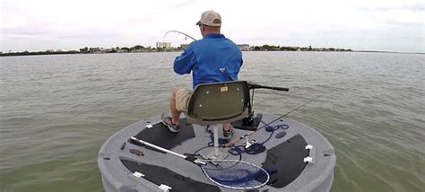 360 degree boat a floating disc boat gives fishermen 360 degree access to