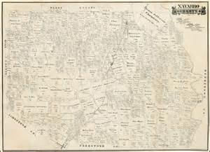 navarro county map navarro county state of april 1888 barry