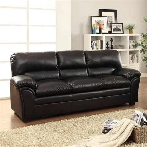 Talon Sectional by Homelegance Talon Sofa In Black Leather Beyond Stores
