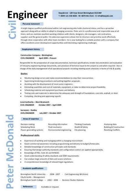 cv engineer manager project manager senior planner cv