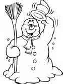 dltk coloring pages snowman winter snowman coloring pages