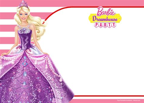 free printable barbie birthday decorations free barbie birthday invitation templates drevio