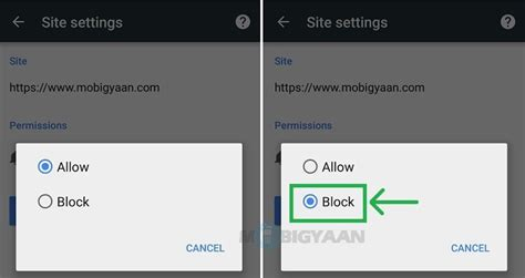 block websites on android chrome how to block chrome notifications android guide