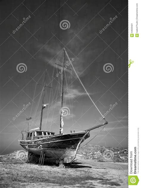 old black land abandoned ship stock image image of outdoor tranquil
