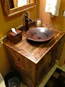 Bathroom Sinks Glass Bowls Rustic Furniture Portfolio Rustic Bathroom Vanities