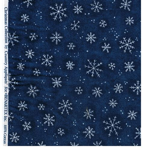 snowflake pattern to sew bernatex fabrics christmas collection snowflake print navy
