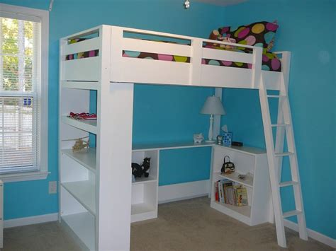 Diy Loft Bed With Desk White How To Build A Loft Bed Diy Projects