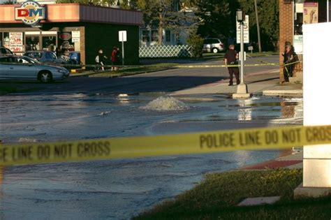 parma section 8 parma water main break still keeps section of state road
