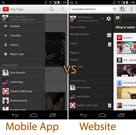 layout youtube mobile new youtube mobile website features card based ui and