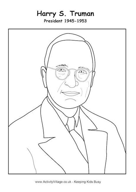 Cold War Coloring Pages harry s truman coloring page cold war for