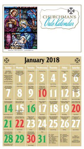episcopal kalendar    calendar printable