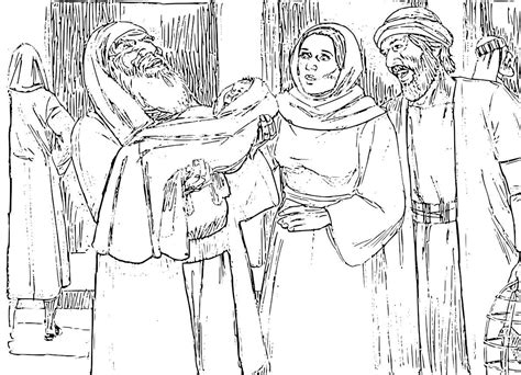 coloring pages baby jesus in the temple the presentation of jesus at the temple coloring pages