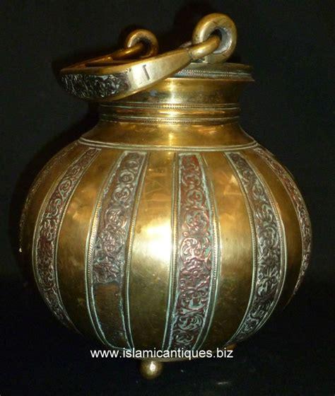 Antique Brass by Islamic Antiques Antique Indian Deccani Pot In Brass
