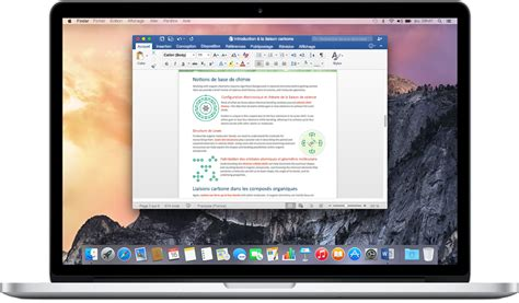 macbook bureau microsoft office acheter la suite office 2016 pour mac