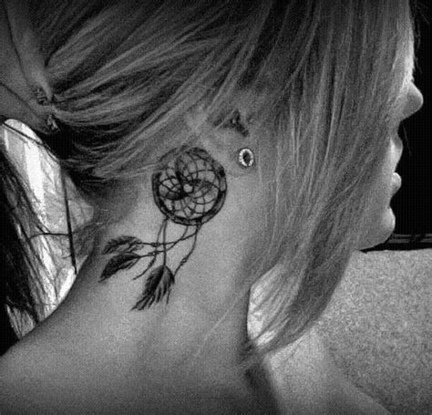 wolf tattoo behind ear 60 dreamcatcher tattoo designs and ideas for women dzine mag