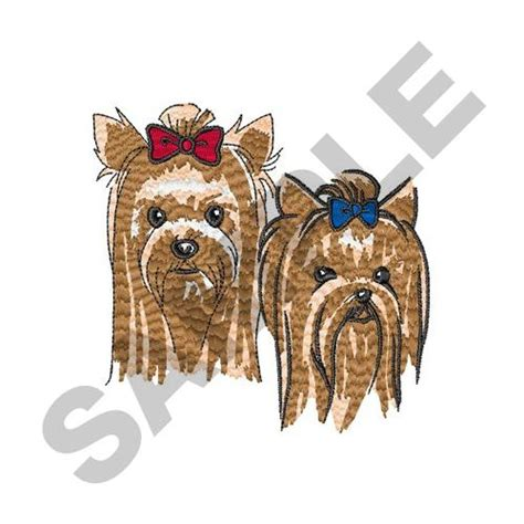 embroidery design yorkshire terrier animals embroidery design yorkshire terrier heads from