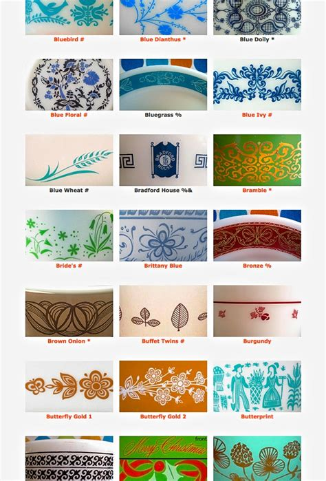 vintage pattern names name that pattern resources for collectible pyrex