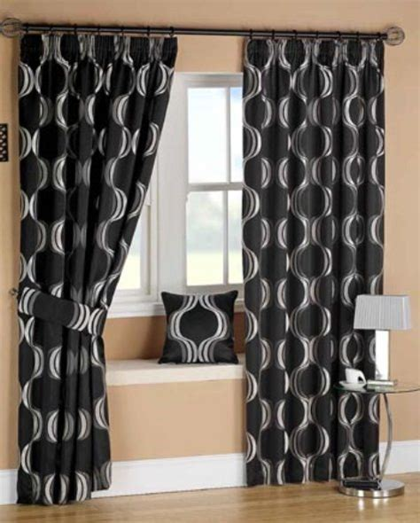 Black And White Curtains For Bedroom | black bedroom curtains interior design