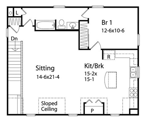 Apartments Garages Floor Plan Benedict Garage Apartment Plan 058d 0142 House Plans And