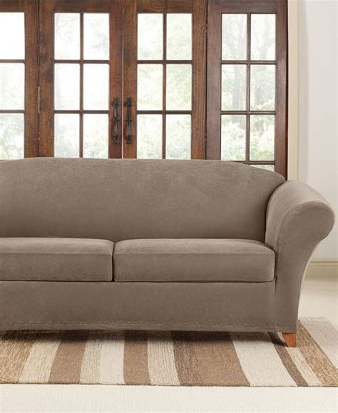 sure fit stretch sofa slipcovers sure fit stretch pique 2 cushion sofa slipcover shops