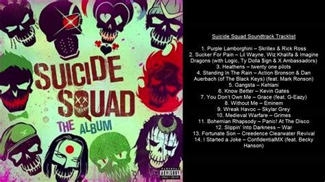 soundtrack list squad soundtrack tracklist