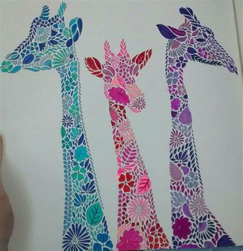 giraffes  millie marottas animal kingdom colouring