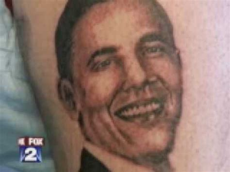 obama tattoo local gets obama at michigan in metro
