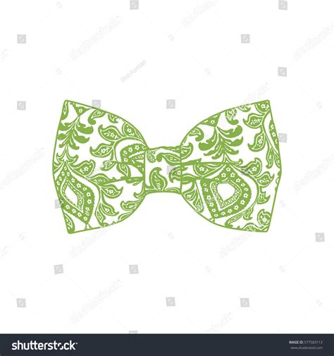 vector bow stock vector illustration of color 10729946 bow tie greenery color vector illustration stock vector 577583113