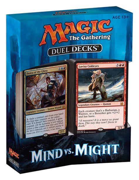magic decks duel decks mind vs might packaging magic the gathering